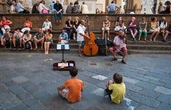 Banda della via a Firenze Immagini Stock