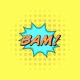 A banda desenhada clássica registra a etiqueta BAM do discurso! Foto de Stock Royalty Free