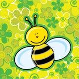 Banda desenhada da abelha ilustração stock