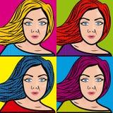 Banda desenhada das mulheres ilustração stock