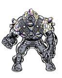 A banda desenhada ilustrou o caráter brutal descascado cristal Fotos de Stock Royalty Free