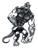A banda desenhada ilustrou o caráter estrangeiro do gorila com uma cauda Imagem de Stock Royalty Free