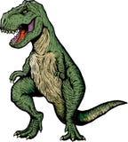 Banda desenhada T-rex ilustração do vetor
