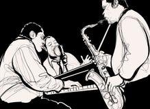 Banda di jazz Fotografie Stock Libere da Diritti