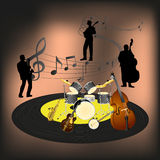 Banda di jazz Immagine Stock