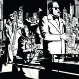 Banda di jazz che gioca a New York Immagini Stock