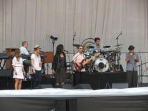 Banda di Leonard Cohen (Lucca 2013) Fotografia Stock