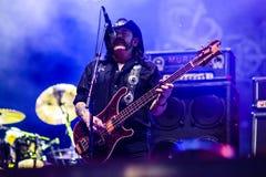Banda di Motorhead che gioca al festival 2013 di Ursynalia Immagine Stock Libera da Diritti