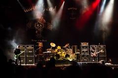 Banda di Motorhead che gioca al festival 2013 di Ursynalia Fotografia Stock