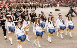 Banda di musica della marina dalla Polonia Immagine Stock Libera da Diritti