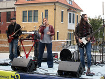 Banda di musica di festival di caduta Fotografie Stock