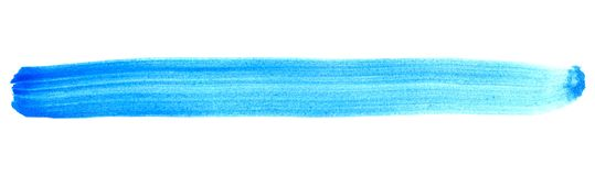Banda dipinta isolata blu Immagine Stock Libera da Diritti