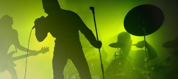 Banda en el concierto Fotos de archivo
