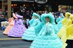 Banda escolar alta de Abilene na parada da ação de graças fotografia de stock royalty free