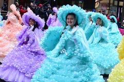 Banda escolar alta de Abilene na parada da ação de graças foto de stock royalty free