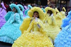 Banda escolar alta de Abilene na parada da ação de graças imagem de stock royalty free