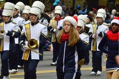 Banda escolar de Abilene en desfile de la acción de gracias imagen de archivo