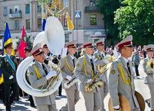 Banda filarmônica militar. Victory Day, o 9 de maio Imagem de Stock