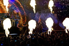 Banda finlandesa de Nightwish en etapa Fotografía de archivo