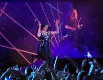 Banda finlandesa de Nightwish en etapa Foto de archivo libre de regalías