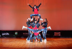 Banda force team dance Royalty Free Stock Images