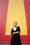 Banda gialla - verticale Fotografie Stock Libere da Diritti