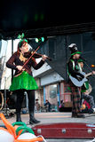 Banda irlandese in scena Fotografia Stock