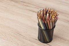 banda kolorowe ołówki Zdjęcia Stock