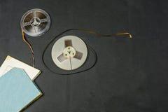 Banda magnética para o carretel de fita imagens de stock