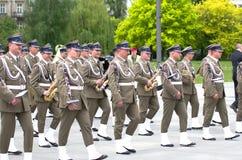 Banda militar Foto de archivo libre de regalías