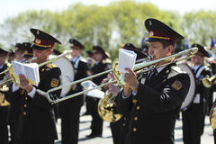 Banda militare Fotografie Stock Libere da Diritti
