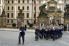 Banda militare onoraria Fotografia Stock