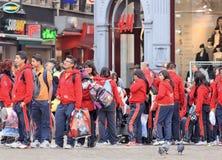 Banda Musica Soles GDO members on Amsterdam Dam Square, Netherlands. Royalty Free Stock Photography