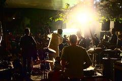 Banda musicale che gioca in Hong Kong Fotografia Stock Libera da Diritti