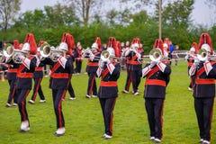 Banda musicale o windband che esegue durante l'evento Fotografia Stock