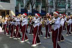 Banda na parada 2015 do feriado de Harrisburg Imagem de Stock