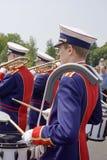 Banda no festival do teatro da rua em Doetinchem, o Neth imagens de stock royalty free