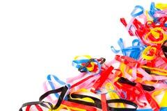 Banda plástica colorida fotografía de archivo libre de regalías