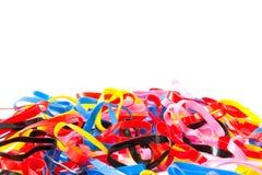 Banda plástica colorida imagen de archivo libre de regalías