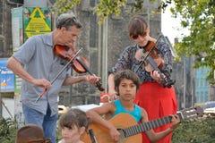 Banda que se realiza en el festival de Gante Fotos de archivo