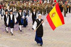 Banda Real de Gaitas Principe de Asturias de Ovied Stock Photography