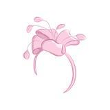 Banda realistica dei capelli con un fiore o un arco fertile Accessori di modo delle donne s Ideale per nozze o la celebrazione Il Fotografia Stock Libera da Diritti