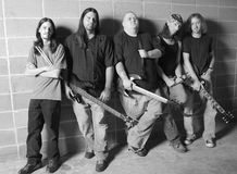 Banda rock in in bianco e nero Fotografia Stock Libera da Diritti