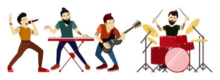 Banda rock isolata royalty illustrazione gratis