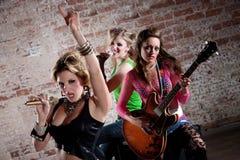 Banda rock punk Immagine Stock