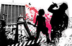 Banda rock urbana Immagini Stock Libere da Diritti