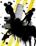 Banda rock urbana Immagine Stock