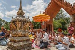 Banda tailandesa en budista de la ceremonia de la iniciación Imagen de archivo libre de regalías