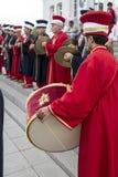 Banda tradizionale dell'esercito dell'ottomano Fotografie Stock Libere da Diritti