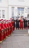 Banda tradizionale dell'esercito dell'ottomano Immagine Stock